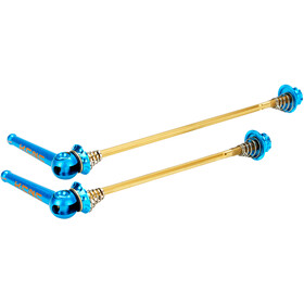 KCNC Road Grooving Quick Release 100/130mm Ti Axle blue